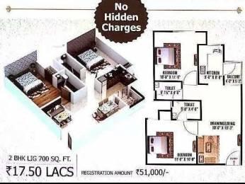 700 sqft, 2 bhk Apartment in Builder sng group laxmi vilas Sikar Road, Jaipur at Rs. 17.5000 Lacs