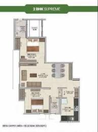 816 sqft, 2 bhk Apartment in Wadhwa Wise City Panvel, Mumbai at Rs. 64.5600 Lacs