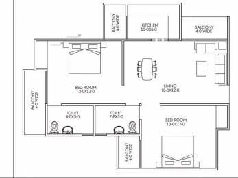 990 sqft, 2 bhk Apartment in Antriksh Galaxy Zone L Dwarka, Delhi at Rs. 35.8750 Lacs