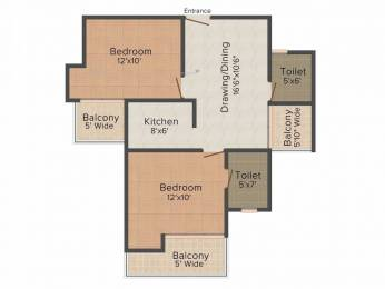 880 sqft, 2 bhk Apartment in Ajnara Homes Sector 16B Noida Extension, Greater Noida at Rs. 31.0000 Lacs