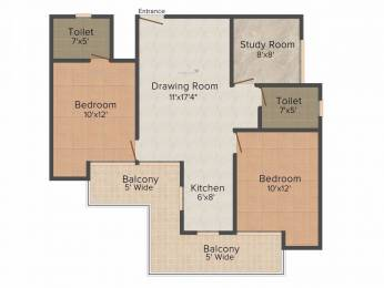 1085 sqft, 2 bhk Apartment in Ajnara Homes Sector 16B Noida Extension, Greater Noida at Rs. 37.0000 Lacs