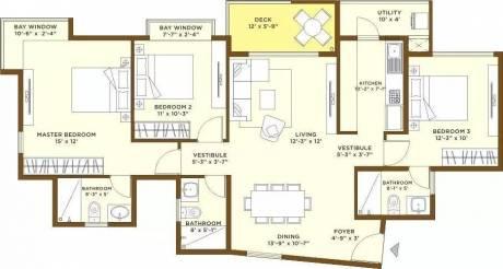 1595 sqft, 3 bhk Apartment in Bhartiya Nikoo Homes Kannur on Thanisandra Main Road, Bangalore at Rs. 1.0400 Cr