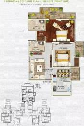 1198 sqft, 2 bhk Apartment in Hemisphere Golf Suites PI, Greater Noida at Rs. 44.9200 Lacs