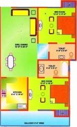1232 sqft, 2 bhk Apartment in Ganpati Emrald Heights Sikandra, Agra at Rs. 42.0000 Lacs