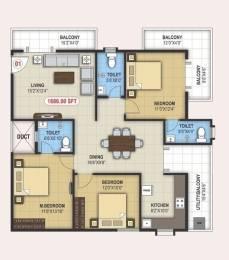 1686 sqft, 3 bhk Apartment in Builder nava vedantha apartment Ramamurthy Nagar, Bangalore at Rs. 1.0076 Cr