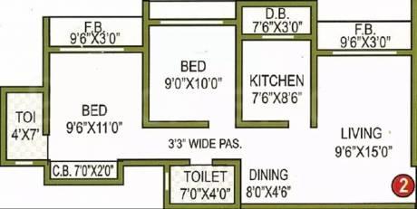 995 sqft, 2 bhk Apartment in Gaurav Sai Charan Residency Mira Road East, Mumbai at Rs. 65.0000 Lacs