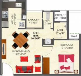 560 sqft, 1 bhk Apartment in SNN Raj Etternia Harlur, Bangalore at Rs. 31.7333 Lacs