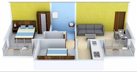 820 sqft, 2 bhk Apartment in Krish Icon Sector 33 Bhiwadi, Bhiwadi at Rs. 6000