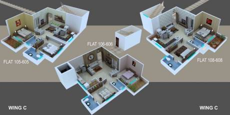 838 sqft, 2 bhk Apartment in Sky Kasturi Heights Wathoda, Nagpur at Rs. 18.4360 Lacs