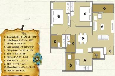 1325 sqft, 2 bhk Apartment in Pacifica Reflections Near Nirma University On SG Highway, Ahmedabad at Rs. 42.0000 Lacs