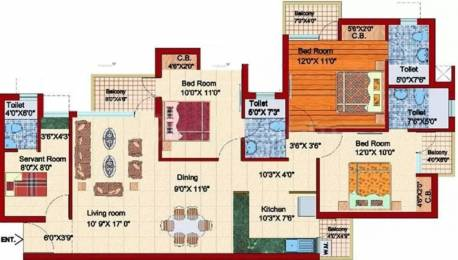 1550 sqft, 3 bhk Apartment in Shubhkamna Apartments Sector 50, Noida at Rs. 22000