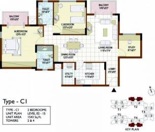 1543 sqft, 2 bhk Apartment in Prestige Notting Hill Gottigere, Bangalore at Rs. 27000