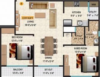 1228 sqft, 2 bhk Apartment in SVR Pine Ridge Jakkur, Bangalore at Rs. 72.0000 Lacs