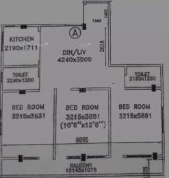 1334 sqft, 3 bhk Apartment in Tirath Aawas Lake Town, Kolkata at Rs. 70.7020 Lacs