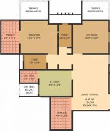 960 sqft, 2 bhk Apartment in Gauree Atlantica East Mundhwa, Pune at Rs. 86.0000 Lacs