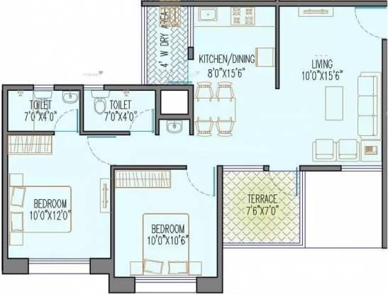 896 sqft, 2 bhk Apartment in Magnus Simpli City Handewadi, Pune at Rs. 10000