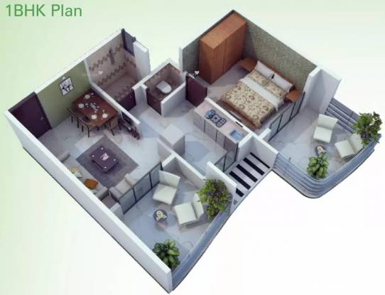 650 sqft, 1 bhk Apartment in Sai Proviso Leisure Town Hadapsar, Pune at Rs. 45.0000 Lacs
