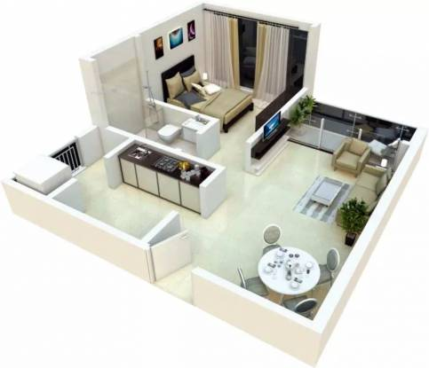 500 sqft, 1 bhk Apartment in Duville Riverdale Heights Kharadi, Pune at Rs. 38.0000 Lacs