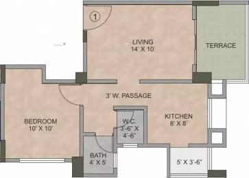 592 sqft, 1 bhk Apartment in Kalpataru Serenity Manjari, Pune at Rs. 45.0000 Lacs