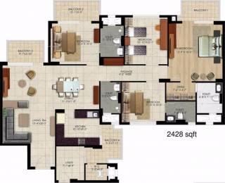 2428 sqft, 4 bhk Apartment in Mahindra Aura Sector 110A, Gurgaon at Rs. 1.5000 Cr