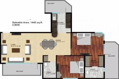 1440 sqft, 2 bhk Apartment in Raheja Atharva Sector 109, Gurgaon at Rs. 13500