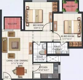 950 sqft, 2 bhk Apartment in Mahindra Aura Sector 110A, Gurgaon at Rs. 77.0000 Lacs