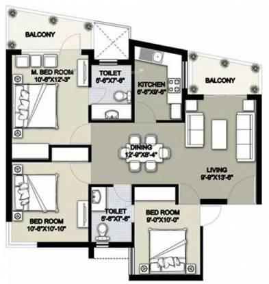 1302 sqft, 3 bhk Apartment in Raheja Shilas Sector 109, Gurgaon at Rs. 15500