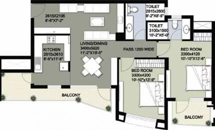 1432 sqft, 2 bhk Apartment in Raheja Vedas Sector 108, Gurgaon at Rs. 14500