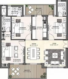 1700 sqft, 3 bhk Apartment in Puri Diplomatic Greens Sector 110A, Gurgaon at Rs. 21500