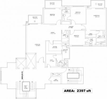 2397 sqft, 4 bhk Apartment in Mahindra Aura Sector 110A, Gurgaon at Rs. 1.4000 Cr