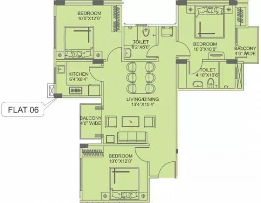 1170 sqft, 3 bhk Apartment in Siddha Aangan Bagru, Jaipur at Rs. 8500