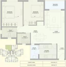 1099 sqft, 2 bhk Apartment in TATA Ariana Kalinga Nagar, Bhubaneswar at Rs. 73.0000 Lacs