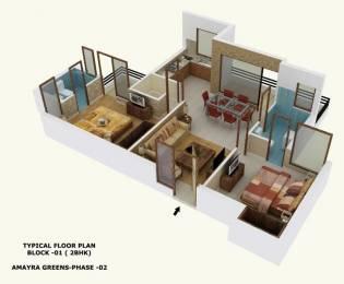 1275 sqft, 2 bhk Apartment in Builder Amayra Greens 2 Kharar Mohali, Chandigarh at Rs. 27.7500 Lacs