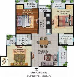 1309 sqft, 3 bhk Apartment in Devika Gold Homz Sector 1 Noida Extension, Greater Noida at Rs. 39.2700 Lacs