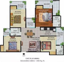 1406 sqft, 4 bhk Apartment in Devika Gold Homz Sector 1 Noida Extension, Greater Noida at Rs. 42.8830 Lacs