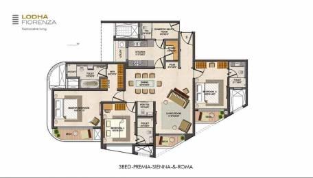 2205 sqft, 3 bhk Apartment in Lodha Fiorenza Goregaon East, Mumbai at Rs. 5.1000 Cr