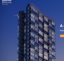 970 sqft, 2 bhk Apartment in Marathon Millennia 1 Mulund West, Mumbai at Rs. 1.7000 Cr