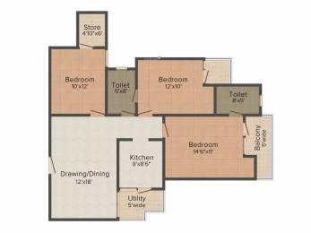 1400 sqft, 3 bhk Apartment in VVIP Addresses Raj Nagar Extension, Ghaziabad at Rs. 51.0000 Lacs