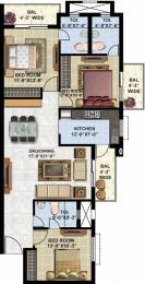 1550 sqft, 3 bhk Apartment in Omaxe Twin Tower Dad Village, Ludhiana at Rs. 63.5000 Lacs