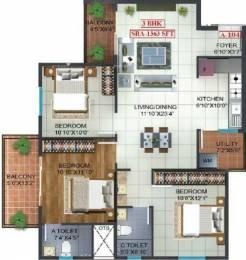 1363 sqft, 3 bhk Apartment in Prospect Princeton Begur, Bangalore at Rs. 64.0474 Lacs