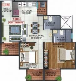 1013 sqft, 2 bhk Apartment in Prospect Princeton Begur, Bangalore at Rs. 58.3454 Lacs