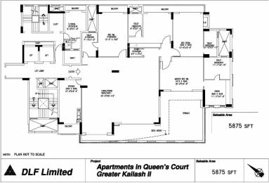 5875 sqft, 4 bhk Apartment in DLF Queens Court Greater Kailash, Delhi at Rs. 18.5000 Cr