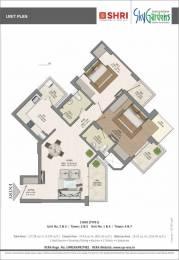 1370 sqft, 2 bhk Apartment in Shri Radha Sky Gardens Sector-16 B Gr Noida, Greater Noida at Rs. 43.8400 Lacs