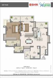 1535 sqft, 3 bhk Apartment in Shri Radha Sky Gardens Sector-16 B Gr Noida, Greater Noida at Rs. 49.1200 Lacs