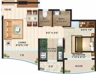 500 sqft, 1 bhk Apartment in Unicorn Arena Naigaon East, Mumbai at Rs. 4500