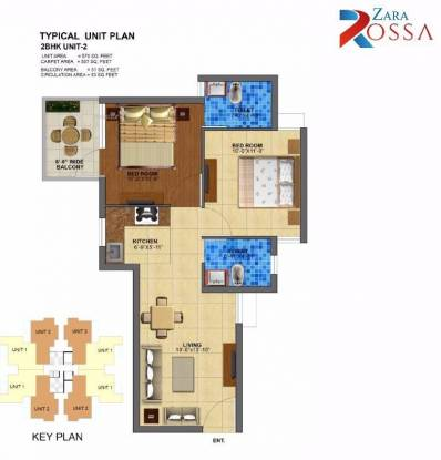 653 sqft, 2 bhk Apartment in Zara Rossa Sector 112, Gurgaon at Rs. 20.8450 Lacs