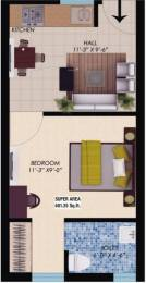 401 sqft, 1 bhk Apartment in WWICS Imperial Heights Sector 115 Mohali, Mohali at Rs. 18.9000 Lacs
