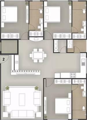 2733 sqft, 3 bhk Apartment in Milestone 7 Heaven Vesu, Surat at Rs. 1.3000 Cr