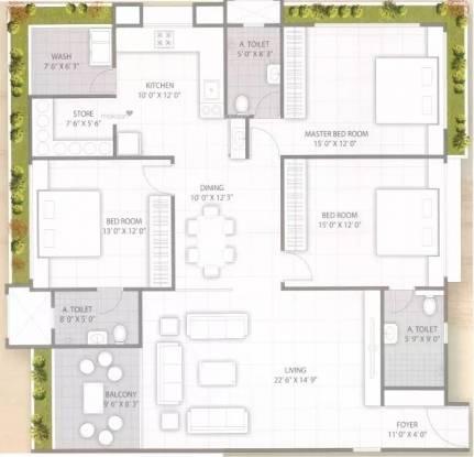 2625 sqft, 3 bhk Apartment in Raghuvir Sheraton Luxury Althan, Surat at Rs. 1.1500 Cr