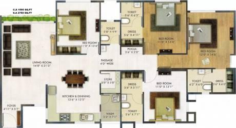2750 sqft, 4 bhk Apartment in Raj Punya Bhoomi Vesu, Surat at Rs. 1.1000 Cr